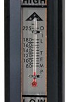 Buyers Oil Level Gauge with Temperature Indicator, Glass